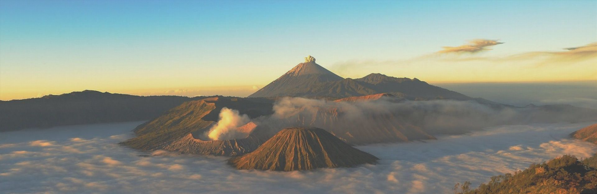 Enjoying Mount Bromo Morning Charm